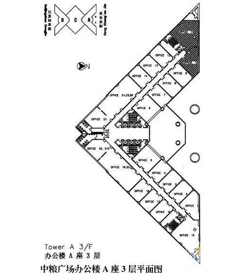 广场平面设计图线稿